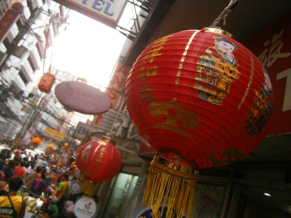 Red Chinese lantern  - Binondo, Chinese New Year 2013