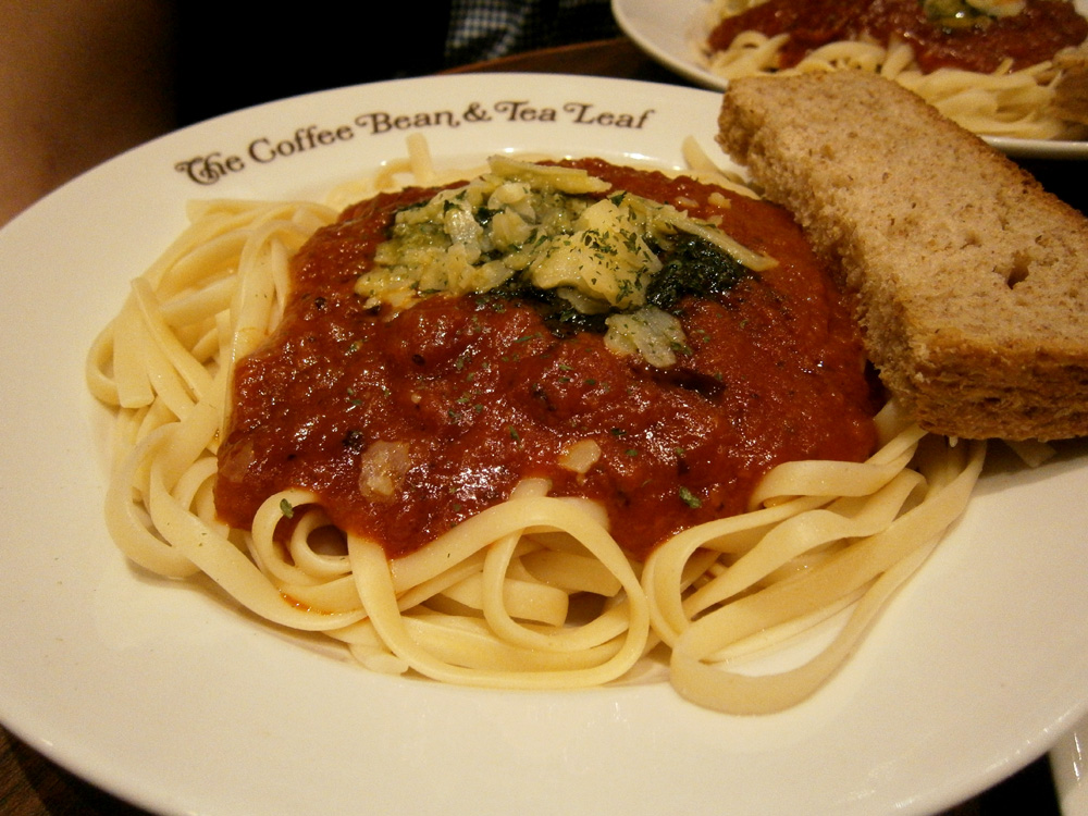 The only pasta available that night - Coffee Bean and Tea Leaf, Greenbelt 3