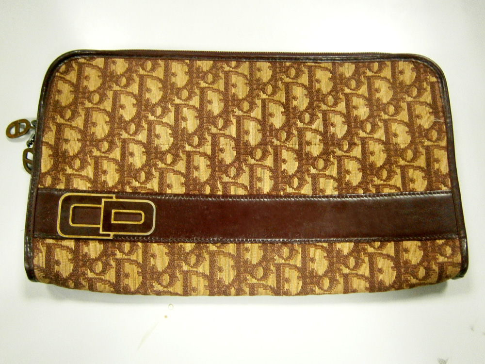 Vintage Christian Dior monogram clutch