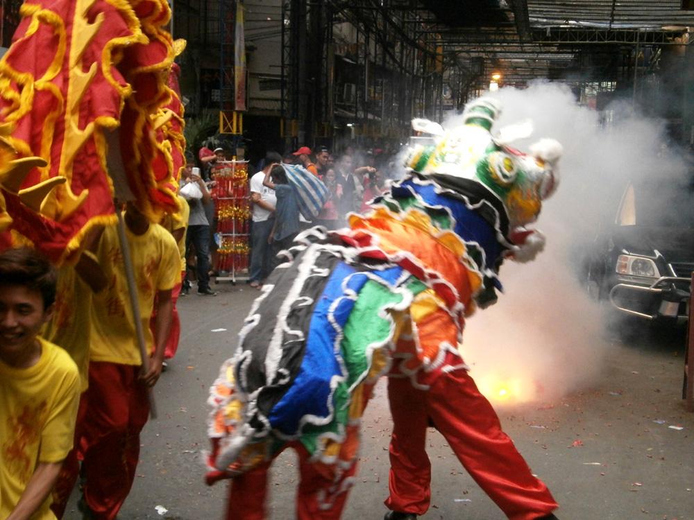 We were shocked of the unannounced firecrackers - Binondo, Chinese New Year 2013