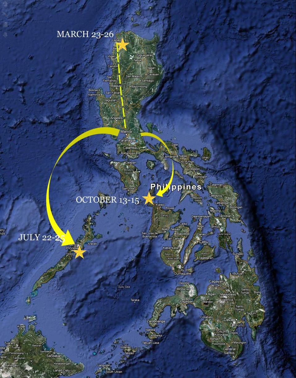 2013 travel plans in the Philippines