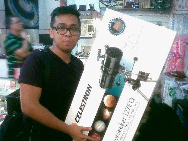 A Celestron telescope from Cutting Edge!