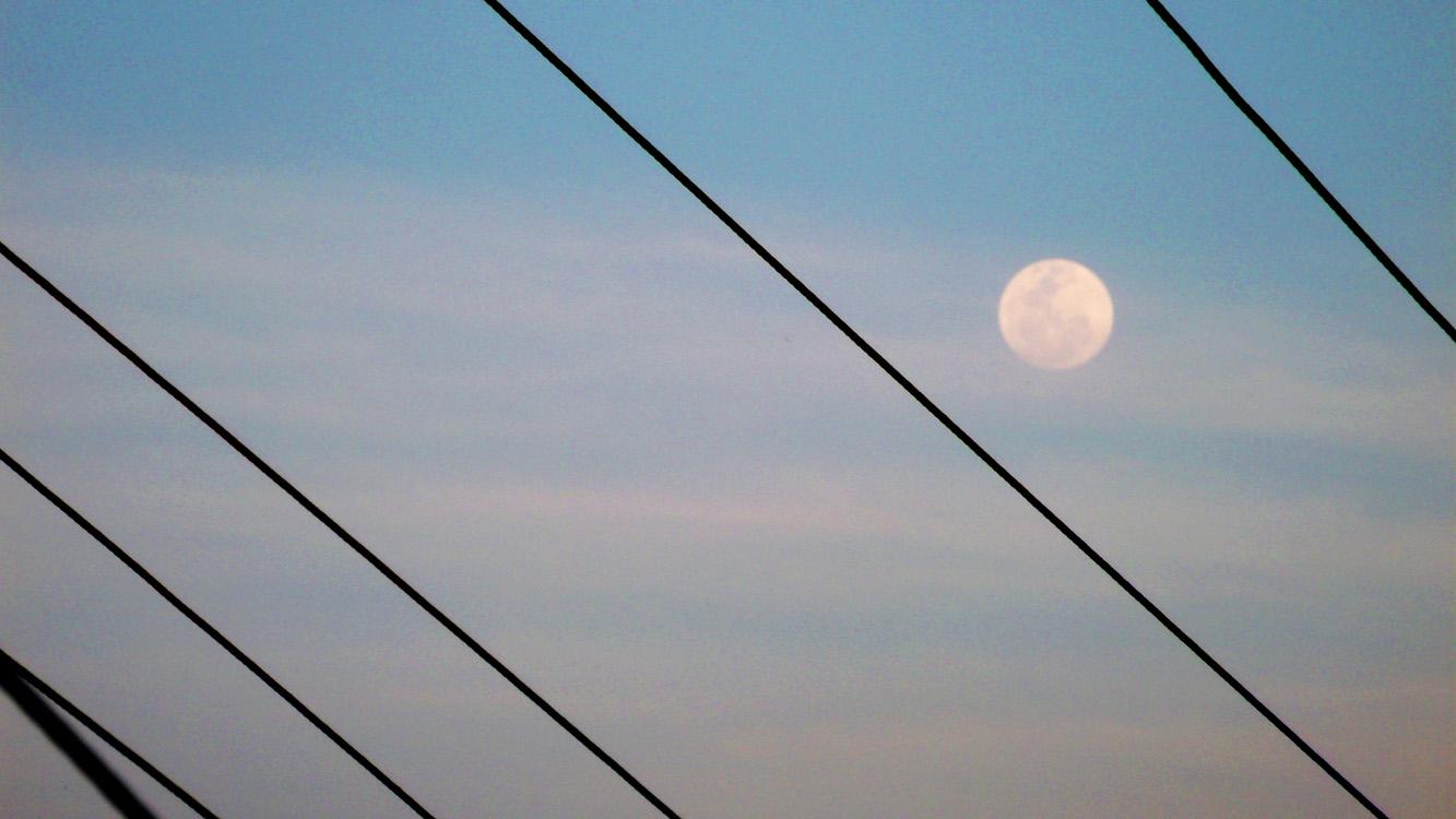 Almost full moon - Bangui, Ilocos Norte