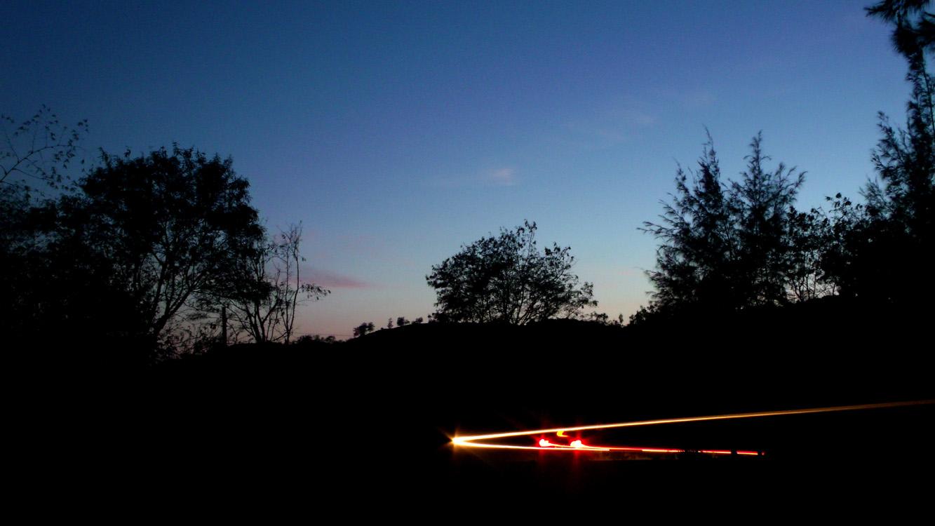 And the darkness slowly fell - Bangui, Ilocos Norte