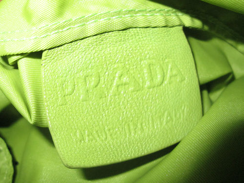 Distorted leather tag of Prada Tessuto Robot 2