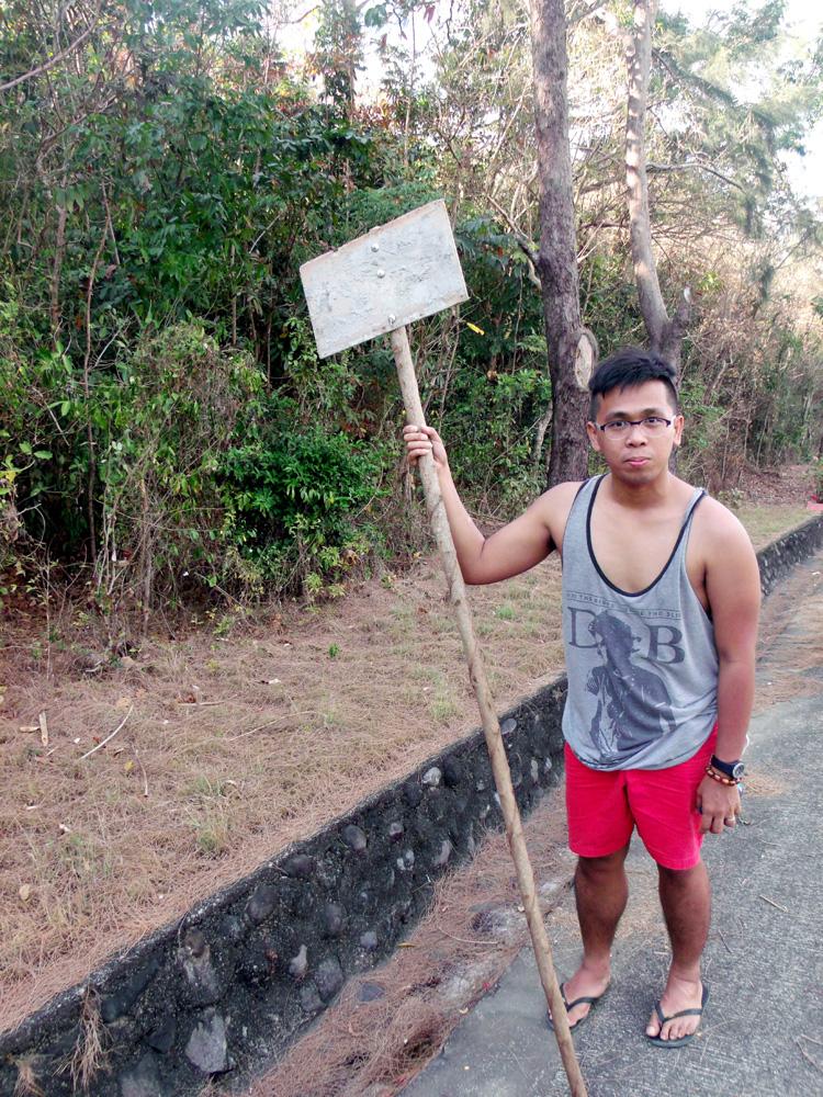 Fooling around while waiting - Bangui, Ilocos Norte
