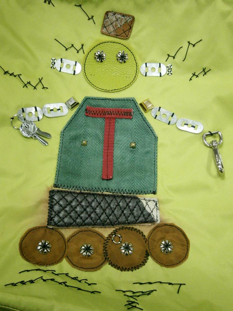 Green Prada Tessuto Robot 2 Tote