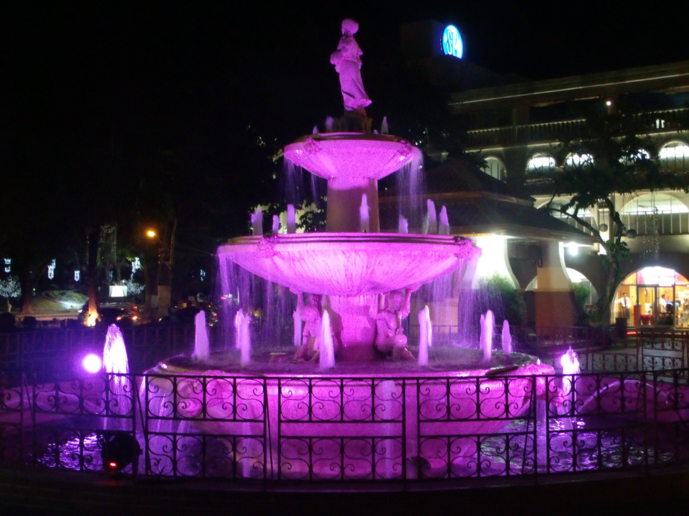Lovely fountain in the plaza, in front of Ilocos Norte's capitol