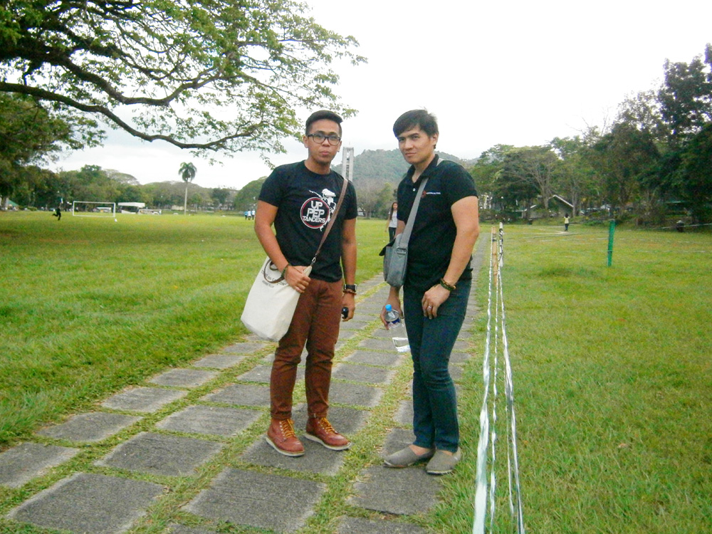 Mon  and I in the Freedom Park - UP Los Baños