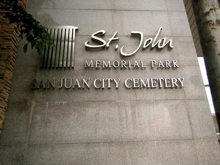 New façade of San Juan City Cemetery