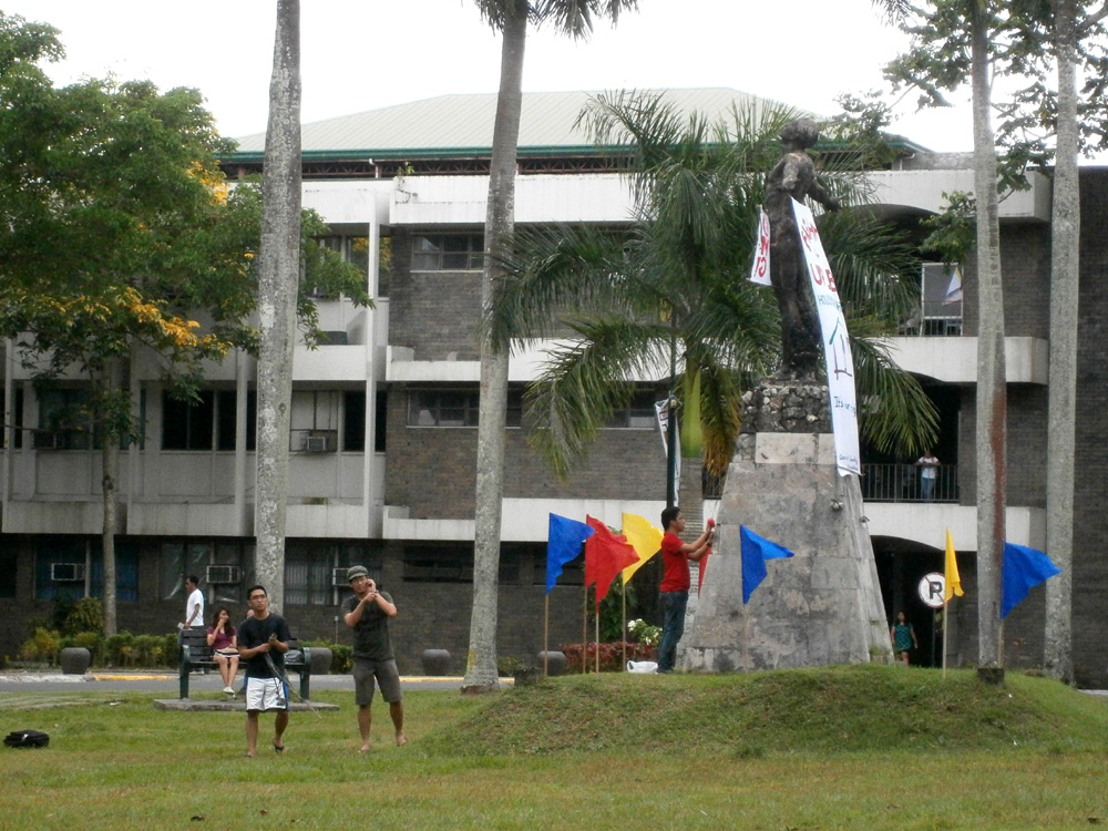 Oblation in UPLB, in front of the Humanities building