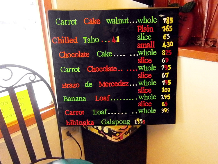 Price list - Home Made Carrot Cake in San Juan City
