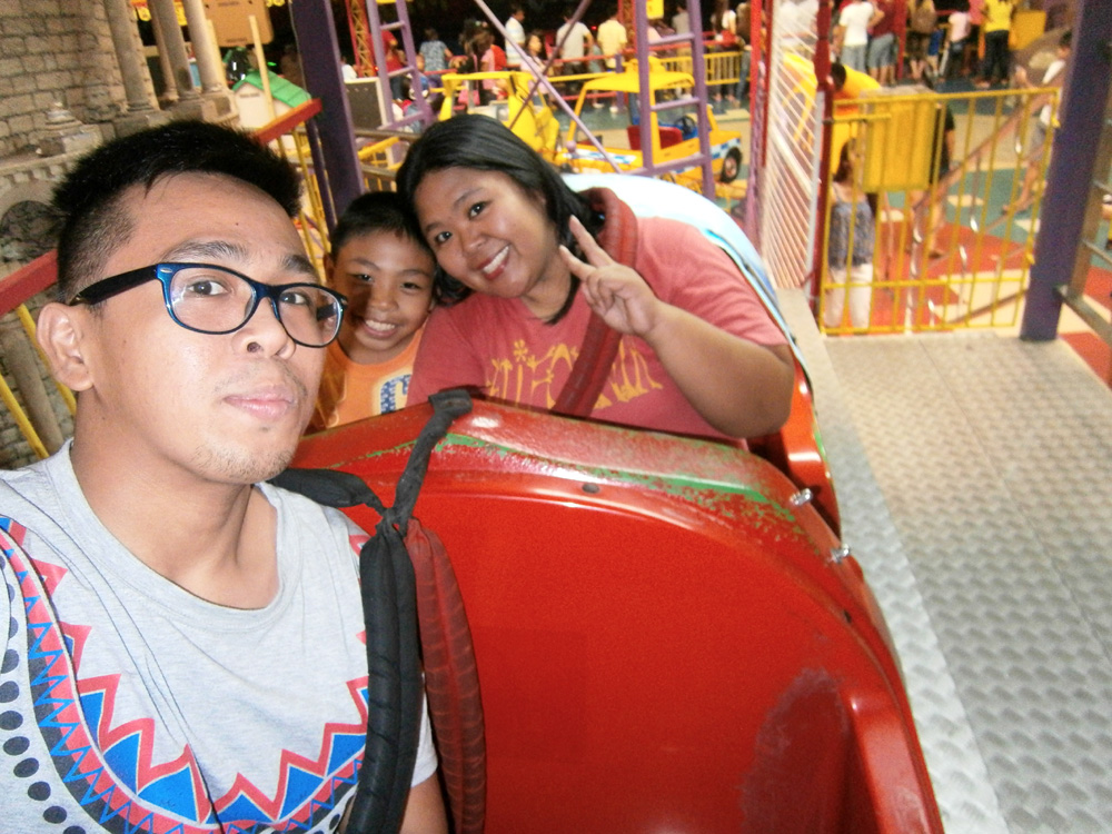Rode a mini-rollercoaster with my sister and nephew