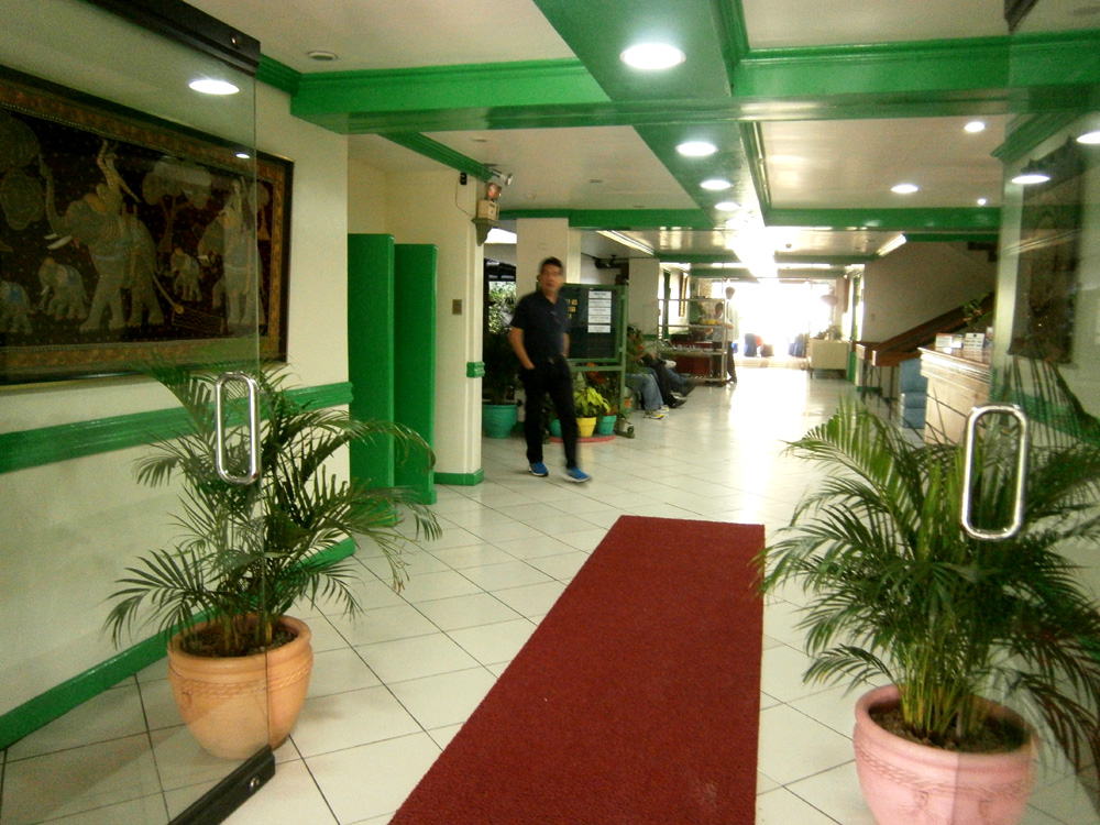 University Hotel's lobby in UP Diliman