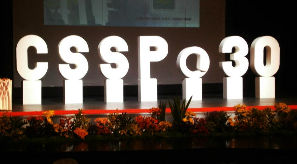 CSSP@30 displayed prominently on the stage