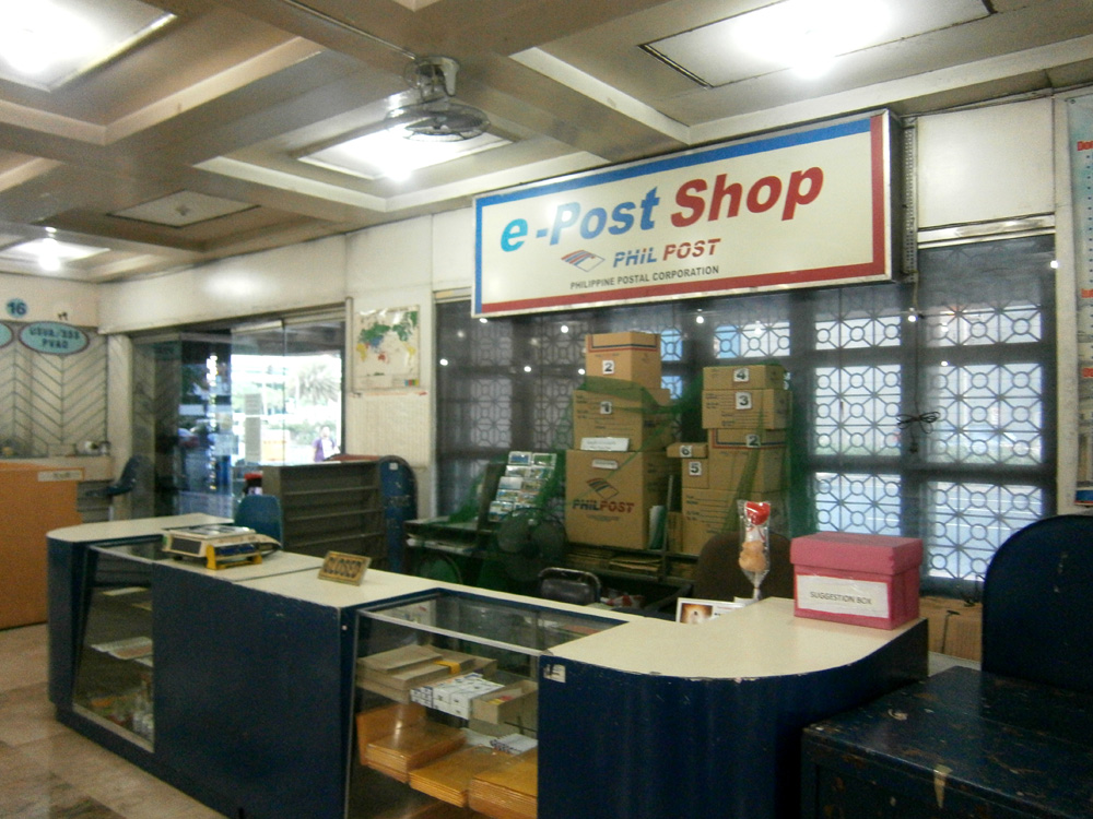 e-Post Shop in Makati Central Post Office, where boxes and packets are beong sold