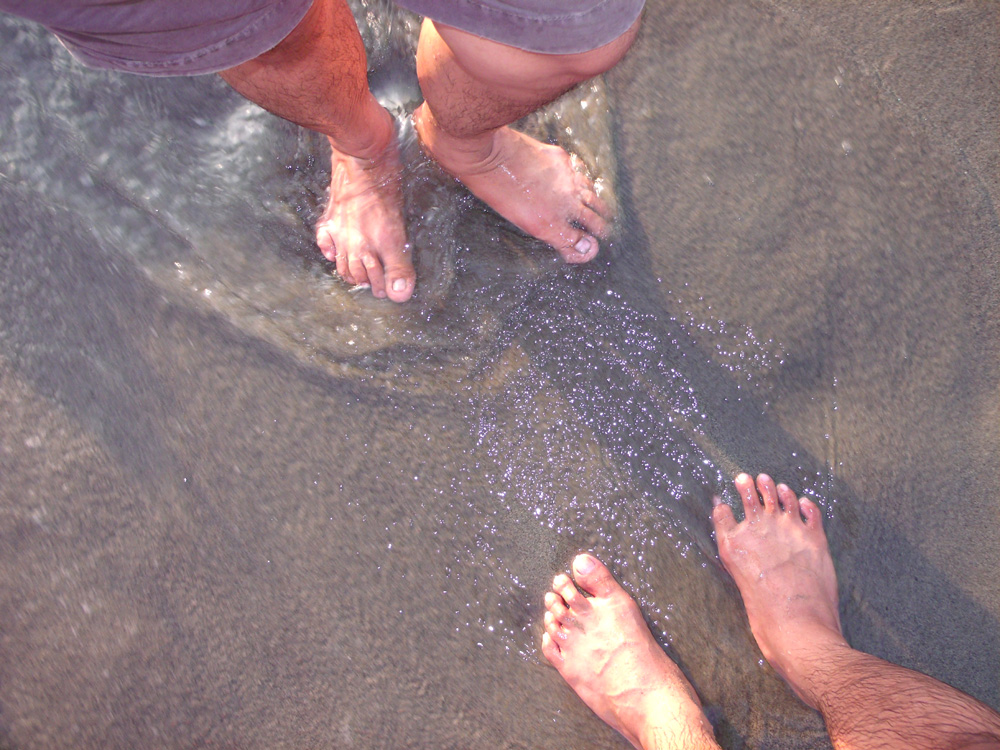 Getting our feet wet, but no beach until Pagudpud on Tuesday