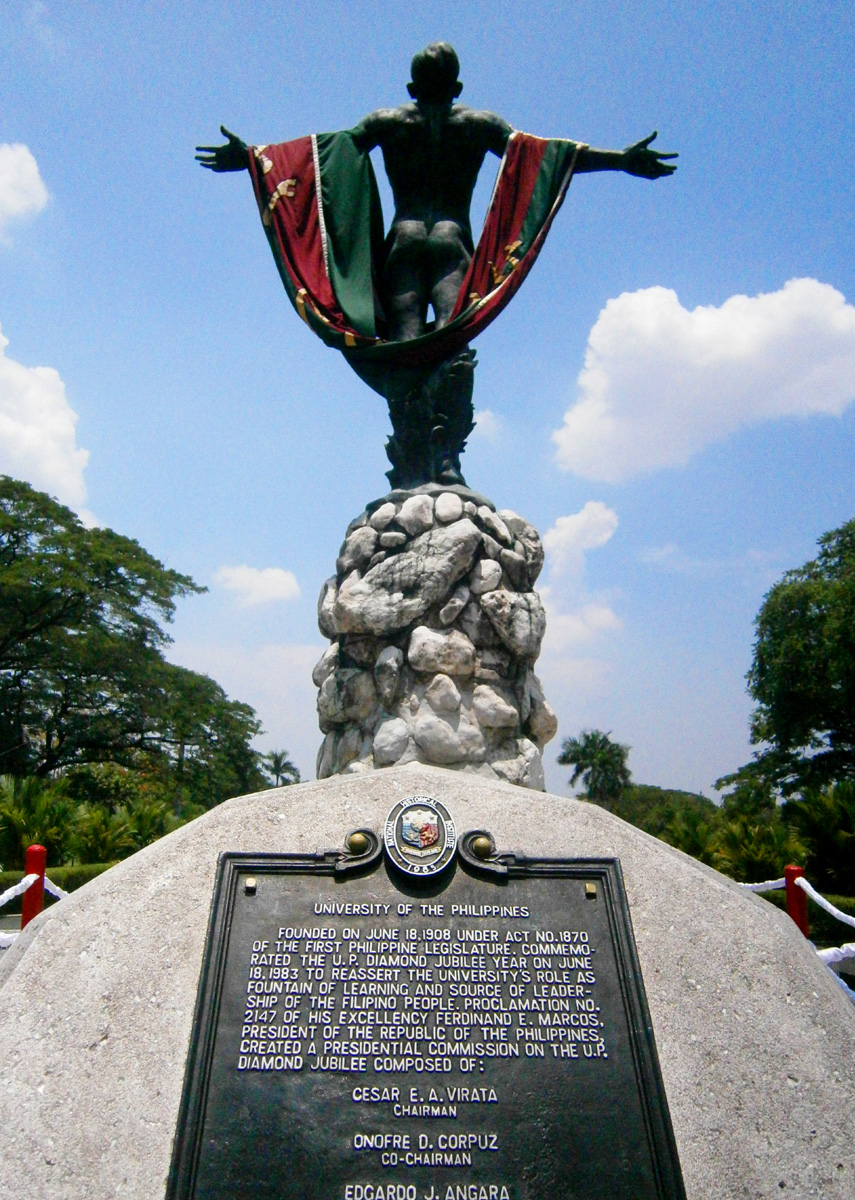 I have NEVER read the inscription by the foot of the Oblation ... wow, a decade after, really