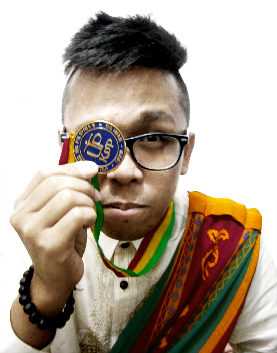 My official graduation 'self-portrait' LOL - UP Diliman Sablay and CSSP master's degree token/medal