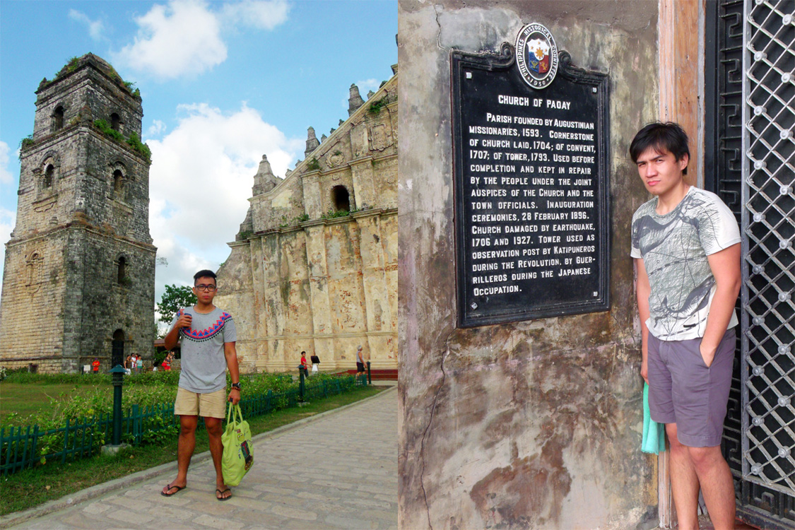 Tourists in Paoay - Paoay Church, Ilocos Norte