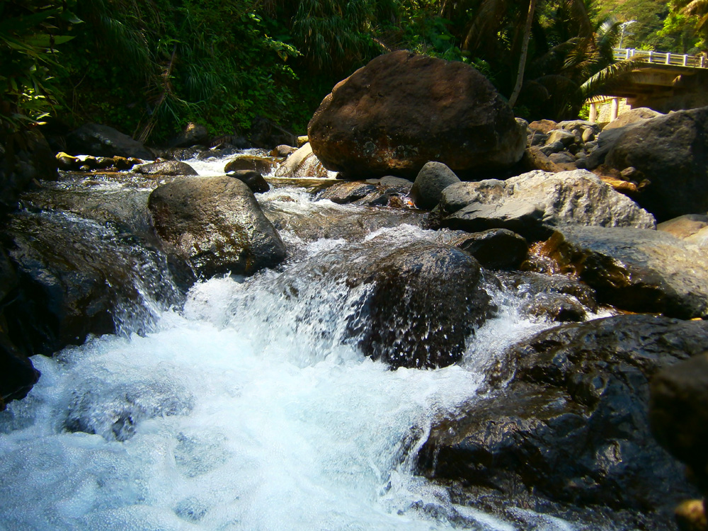 Water rushing downstream - Agua Grande, Pagudpud, Ilocos Norte