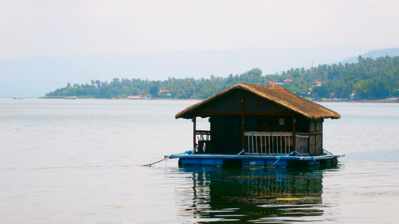 A floating house in Taal Lake