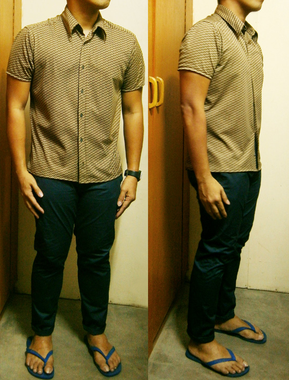 Altered MEXX Shortsleeves polo and altered L.O.G.G. by H&M navy blue pants