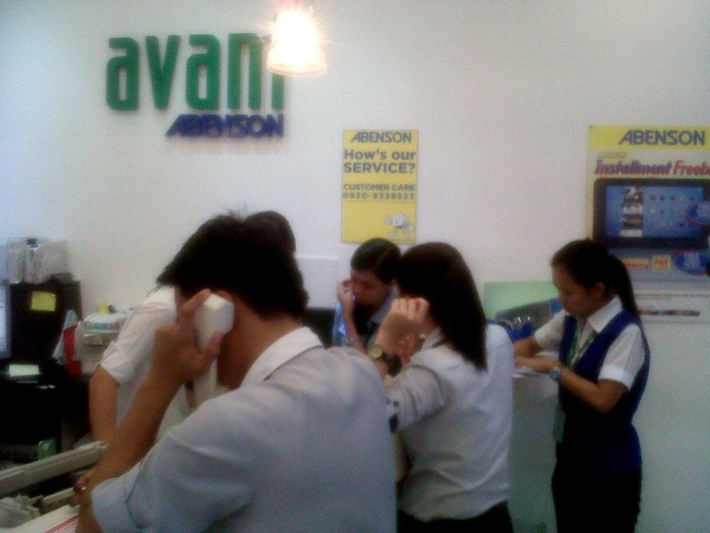 I was itching to call the customer service at 09209328523 - Abenson's Avant in Greenbelt