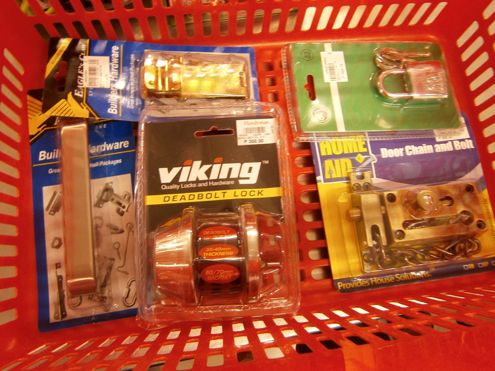 Locks and bolts from the Handyman store