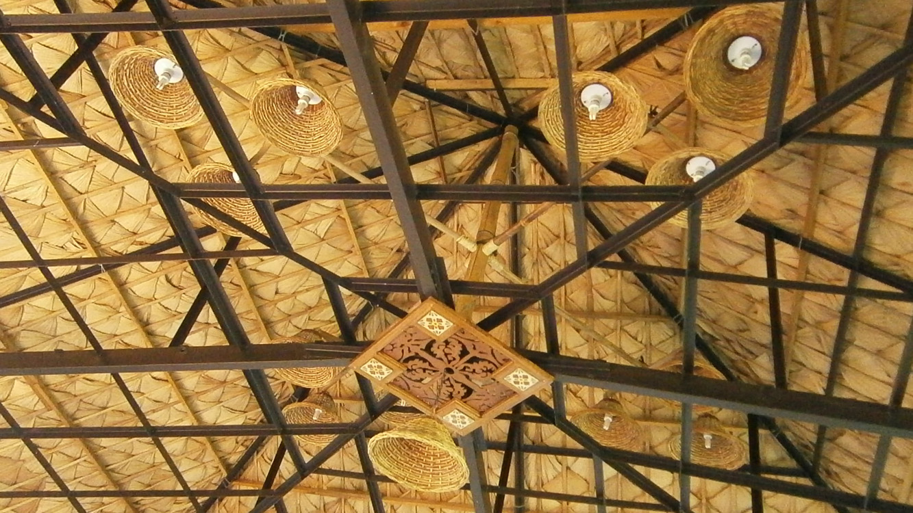 Nice native details on the ceiling