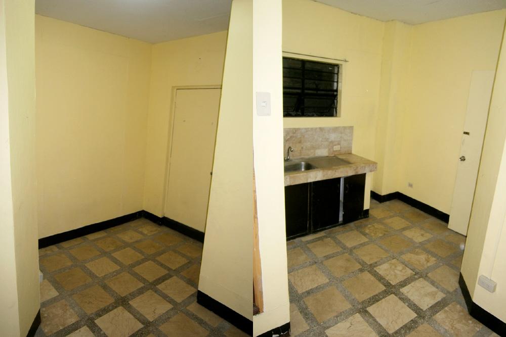 The studio-type apartment that we found