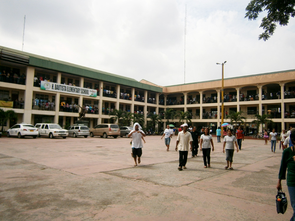 Voters in H. Bautista Elementary School