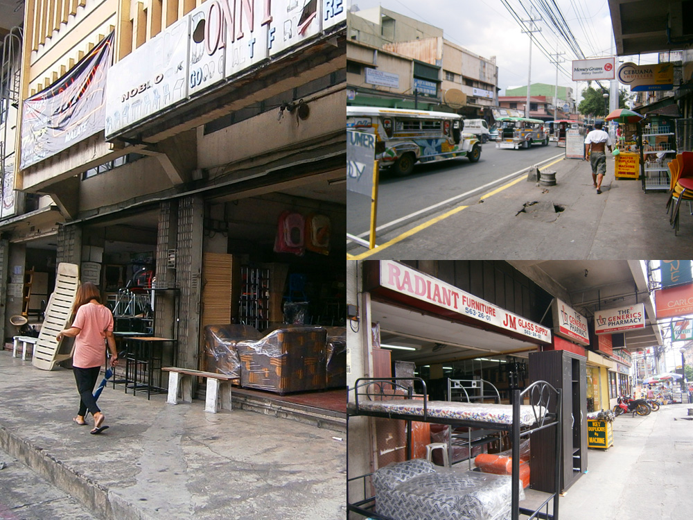 A street of furniture stores in Pedro Gil - Paco Manila