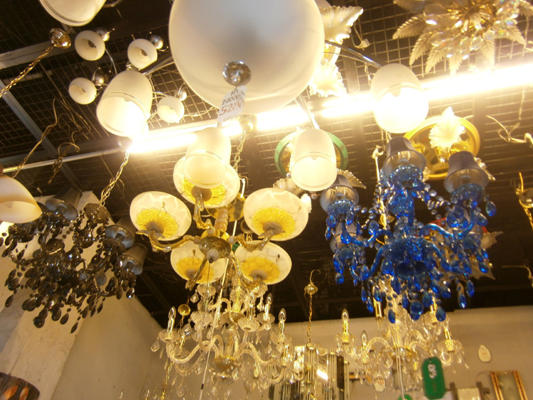 A variety of chandeliers from A&S Lamps in Pasay
