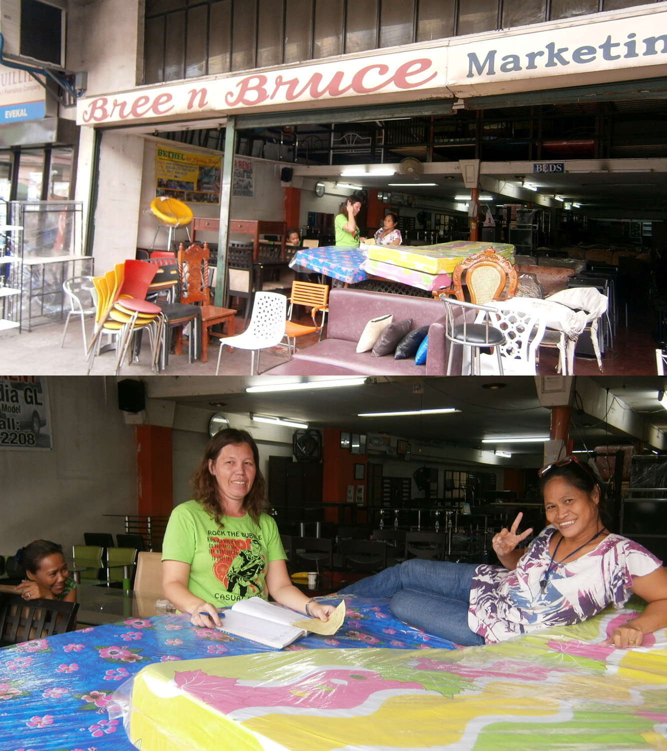 Bree n Bruce Marketing furniture store and its lovely staff - Paco Manila