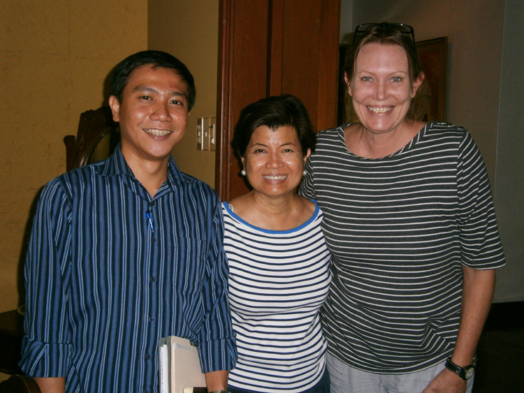 TEAM STRIPES! My colleagues with Ms. Cheche Lazaro