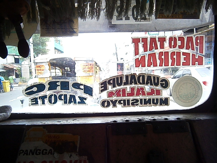 The signboard(s) of the jeepney we rode to get to Paco, Manila