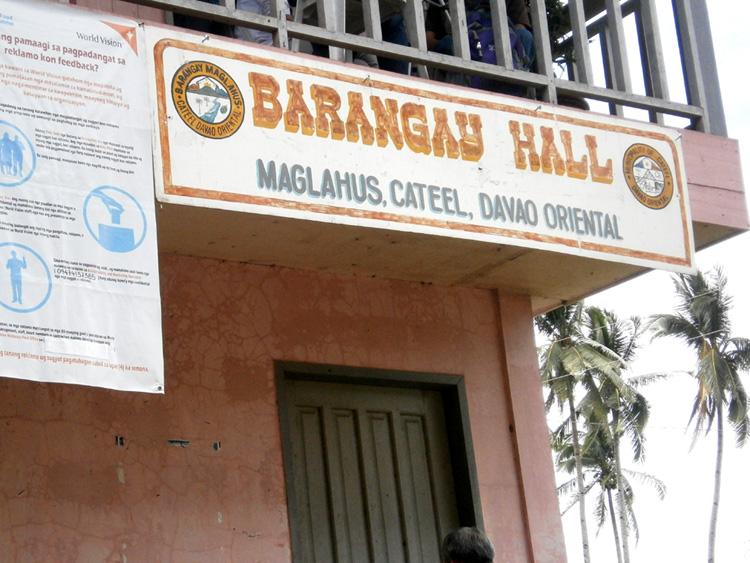 Barangay hall of Barangay Maglahus