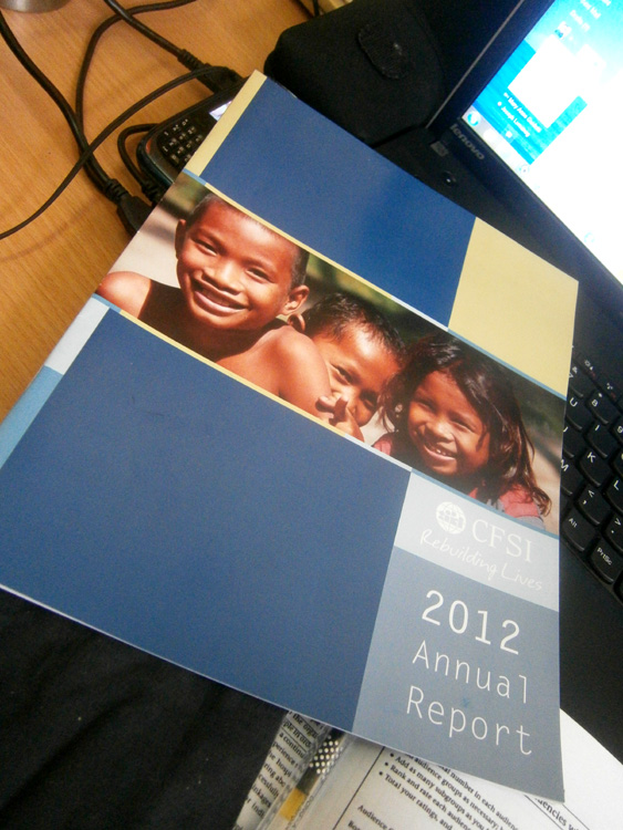 Our annual report!