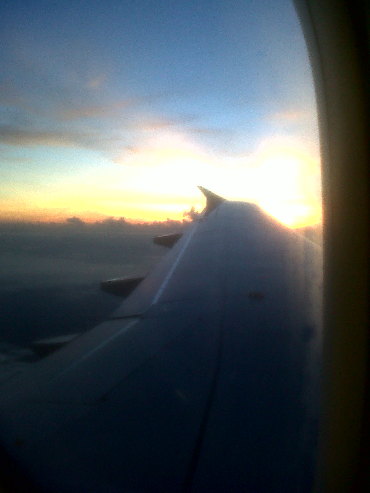 Sunrise viewed from the plane