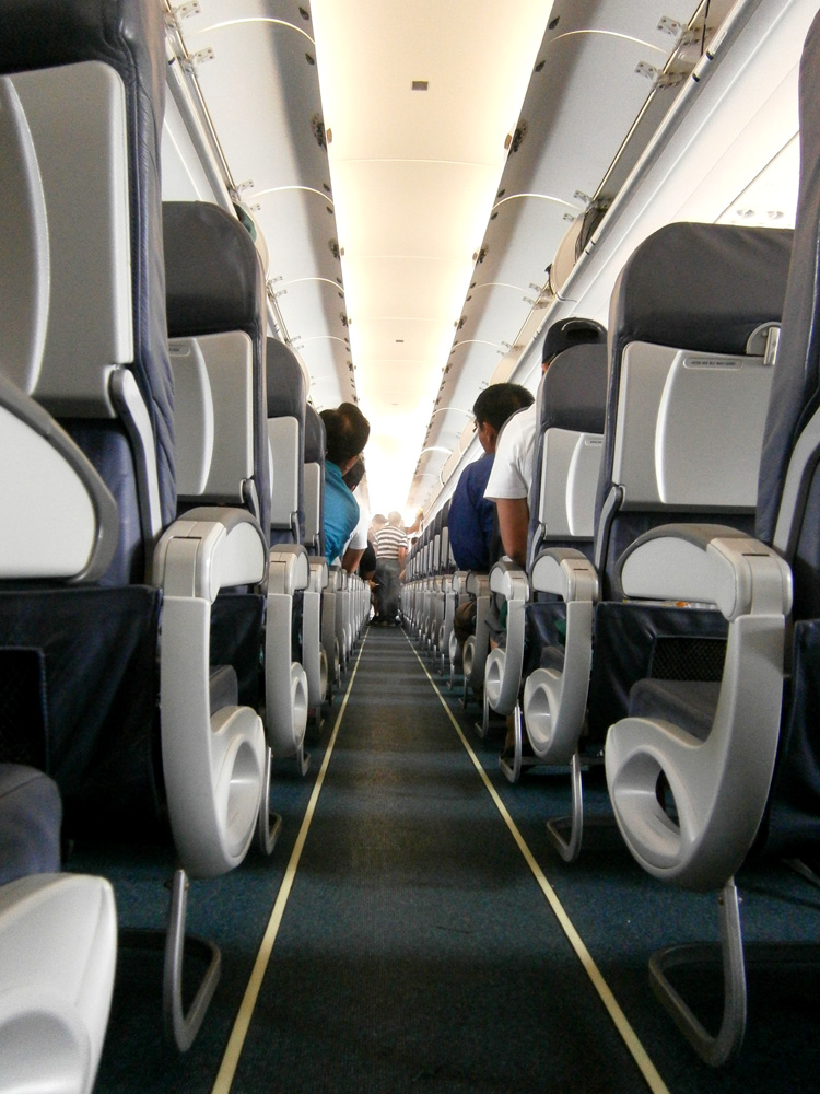 Airplane aisle