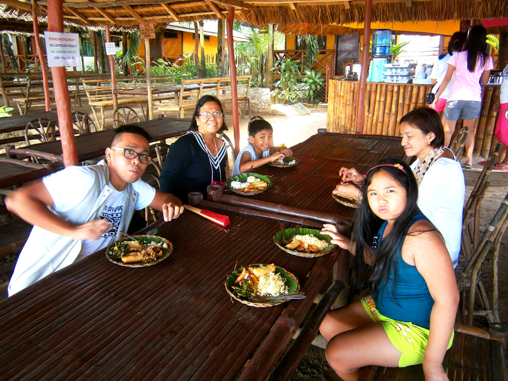 Buffet lunch by Sabang Beach