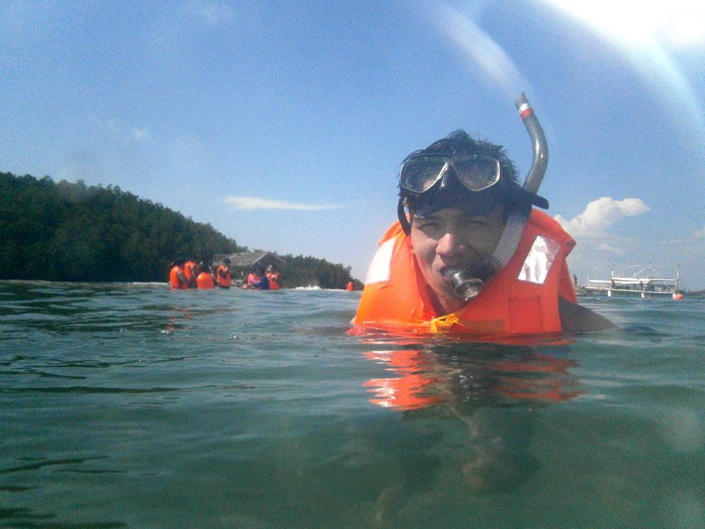 Mon snorkeling!