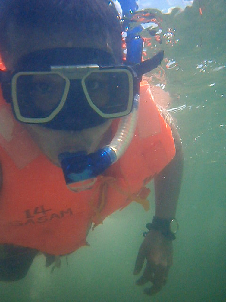 Thanks to the underwater protector of the camera