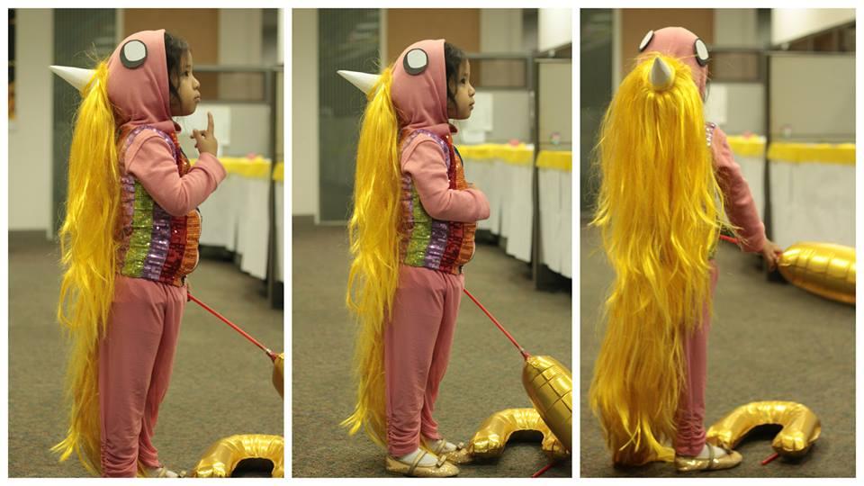 DIY glittery and fantabulously weaved Lady Rainicorn costume