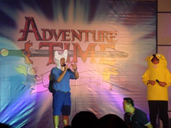 Finn and Jake hosts during the program