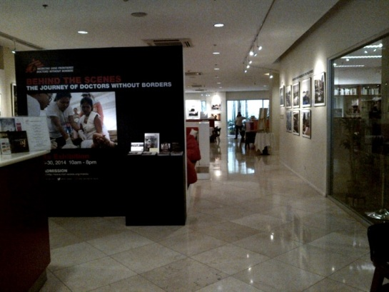 Doctors Without Borders exhibit in Alliance Française