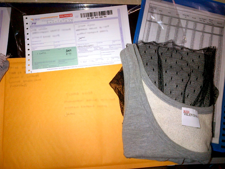 EMS package bound for Japan