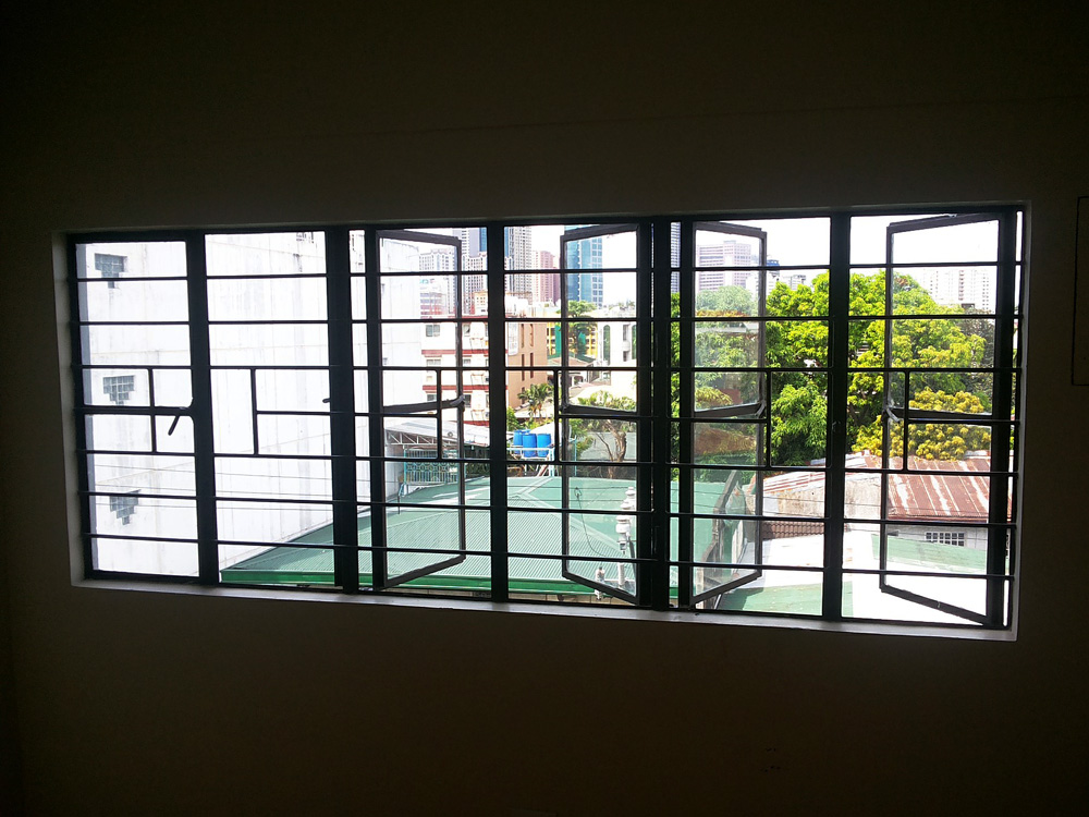 A piece of the Makati skyline from the window