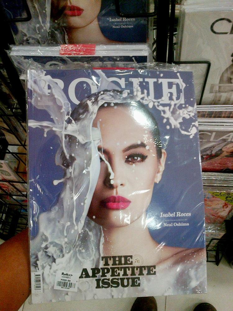 The milk on a headshot photo on Rogue Magazine